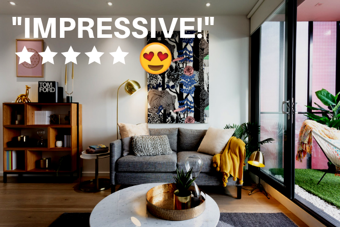 Airbnb impressive apartment fully cleaned 5-star review